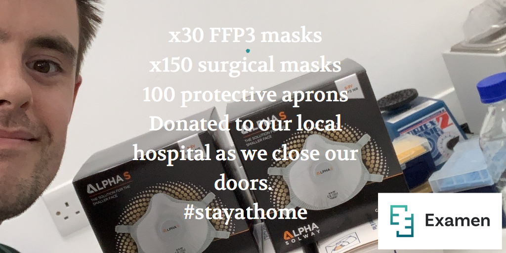 Clients acting positively in this COVID-19 criss - donating protective face masks #Examen